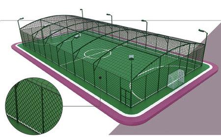 儿童足球场地结构图